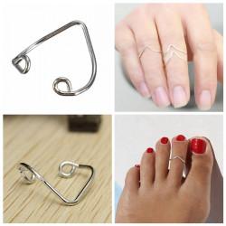 Silber überzogen Form Zehe Ring Foot Beach Schmucksachen für Frauen