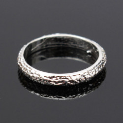 Silver Tone Matt Frosted Alloy Ring Dam Smycken