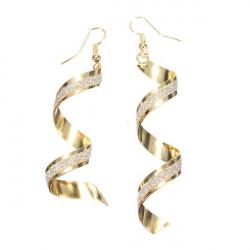 Spiral Twist Frosted lange baumeln Ohrringe für Frauen