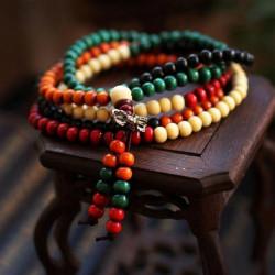 Tibetischen Bunte Buddha buddhistischen Gebetskette Armband mehrschichtiges