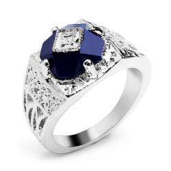 Vampire Diary Caroline Ring Vintage Blå Crystal Fingerringe for Kvinder