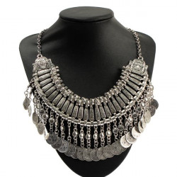 Weinlese Legierung Kragen Quasten Anhänger Opulente Halskette