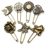 Vintage Bronze Owl Angel Costume Pin Brooch Multi Pattern For Women Women Jewelry