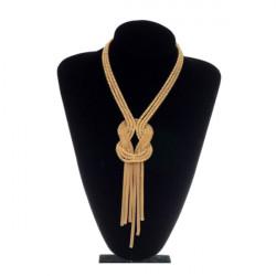 Vintage Gold Snake langen Knochen Wund Alloy Troddel Halskette