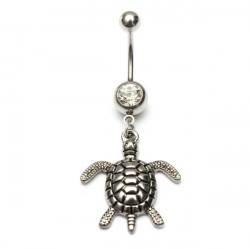 Vintage Sea Turtle Navel Belly Button Ring Piercing Jewelry