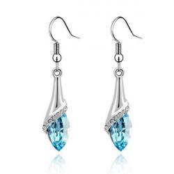 Water Drop Crystal Rhinestone Dangle Earrings For Women