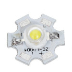 1-3W Aluminiumlegering Lampa Bead Base Plate 3.2-3.4V Ficklampor