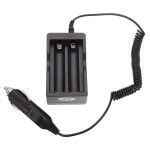 100-240v 18650 Double-Groove Battery Charger With Car Charger Flashlight