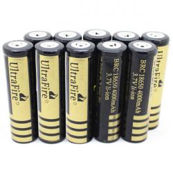 10PCS UItraFire 18650 Rechargeable 4000mAh 3.7V Battery