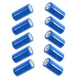 10 PCS Ultra 3.7v 1000mAh CR123A / 16340 Reachargeable Batteri