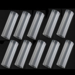 10st 18650 Plastbatteri Rör 6cm för 18650 Ficklampa Ficklampor