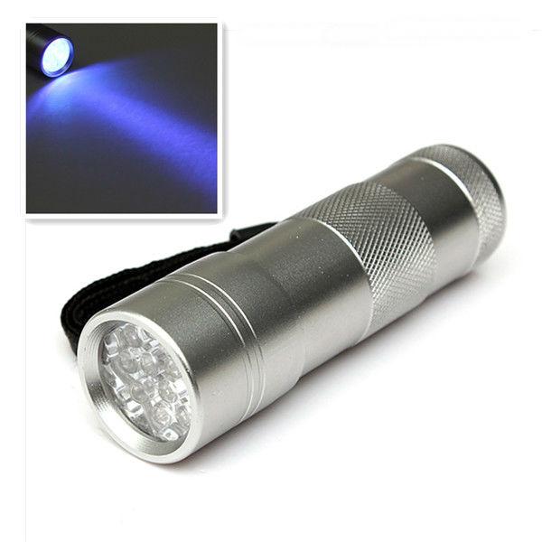 12 LED Ultra Violet UV Sort Lys LED Lommelygte Fakkel Lommelygter