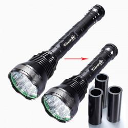 13800LM Trust 12x CREE XM-L T6 5modes LED Ficklampa 3x18650