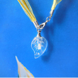 1.5x6mm Tritium Tube Självlysande Crystal Flask Leaf Halsband