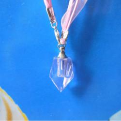 1.5x6mm Tritium Tube Self-luminou Crystall Flask Ensiform Necklace