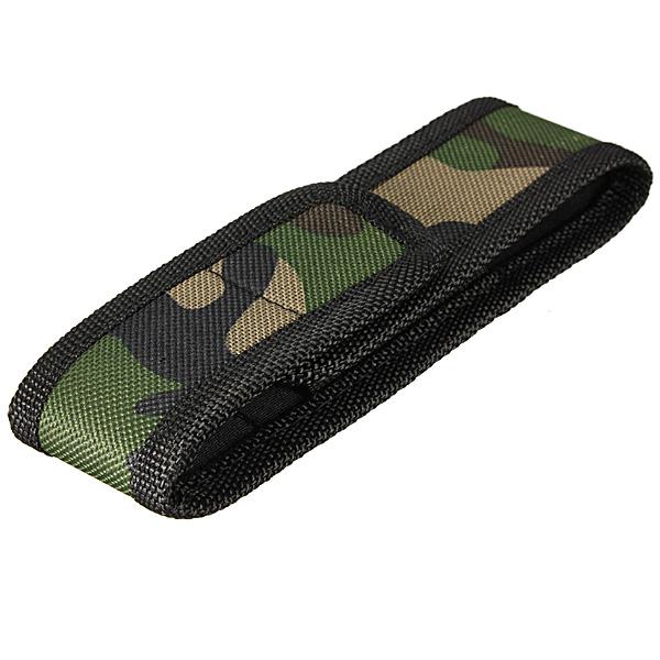 16cm X 26cm Camouflage LED Lommelygte Nylon Taske Holder Lommelygter