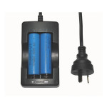 18650 3.7v Li-ion Rechargeable Battery AU Plug Travel Charger Flashlight