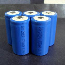 1PCS 25500 3200mAh Convex head Rechargeable Lithium Battery