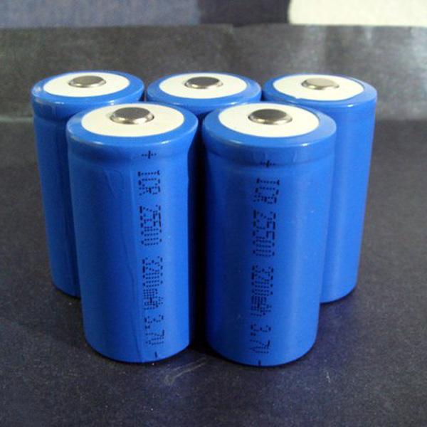 1PCS 25500 3200mAh Konvex Huvudet Uppladdningsbart Litiumbatteri Ficklampor
