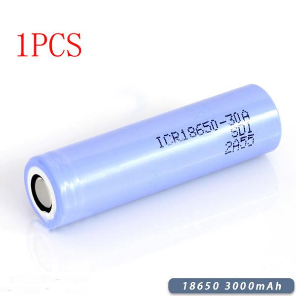 1PCS 3000mAh ICR18650-30B Litiumjonbatteri Skyddad för Samsung Ficklampor