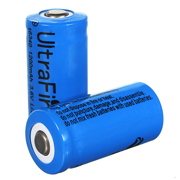 1PCS Ultra 3.7v 1000mAh CR123A / 16340 Reachargeable Batteri Ficklampor
