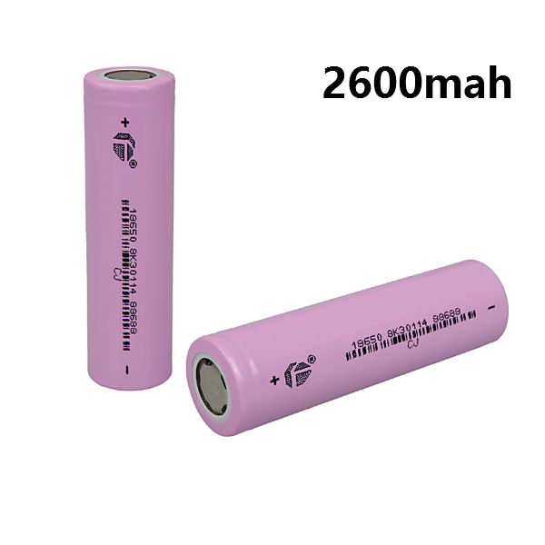 1pcs 3.7v 2600mAh 18650 lithium-ion Rechargeable Battery Flashlight