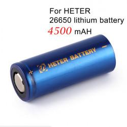 1stk Heter 26650 3.7V 4500mAh Lithium Akku