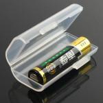 1pcs Li-ion Battery Plastic White Box Case For 2x10440 AAA Flashlight
