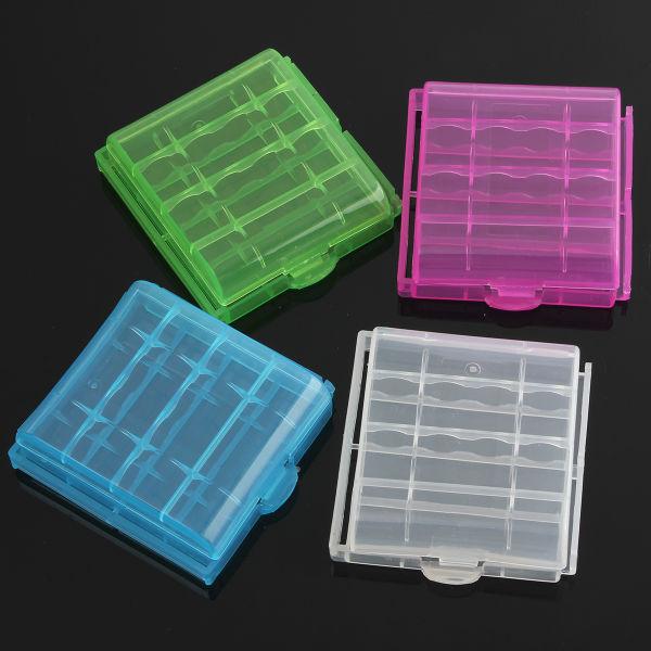 1st Plast Box Case Lagring för 4x14500 / AA Li-ion Batteri Ficklampor