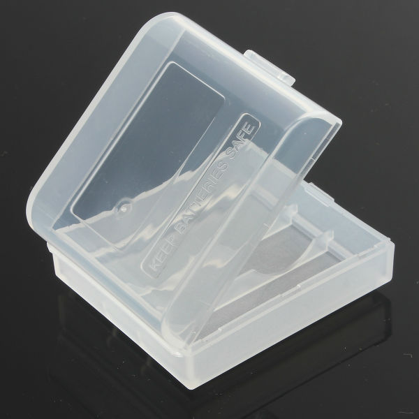 1st Plast Vit Box Case Lagring för 2x16340 Li-ion Batteri Ficklampor