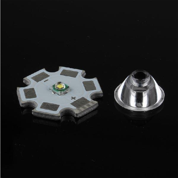 20 Degree CREE XPE/XPG Series Flat Lens LED 11.8mm Flashlight