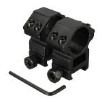 25,4 mm Umfang Ringe für Picatinny Weber Schienen Montage Schwarz 2ST Taschenlampe
