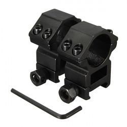 25,4 mm Umfang Ringe für Picatinny Weber Schienen Montage Schwarz 2ST