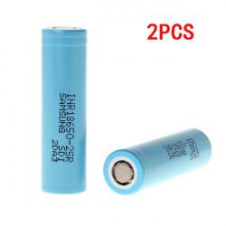 2PCS INR18650-25R 2500mAh 3.6v 20A Uppladdningsbart Li-ion Batteri