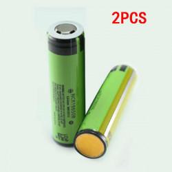 2PCS NCR18650B 3400mAh 3.7V Gold Plating Rechargeable Li-ion Battery