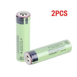 2PCS NCR18650B 3400mAh 3.7V Rechargeable Li-ion Battery