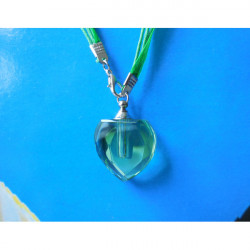 2x12mm/2x15mm Tritium Tube Crystalline Flask Heart-shaped Necklace