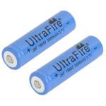 2 X 3000mAh 3.7V 18650 Uppladdningsbart Litiumjonbatteri Blue Ficklampor