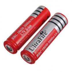 2x UltraFire 18650 3000mAh 3.7V Li-ion Rechargeable Battery Red