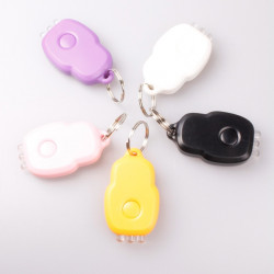 3 LED White Light Portable Laser Keychain Light Five-Color