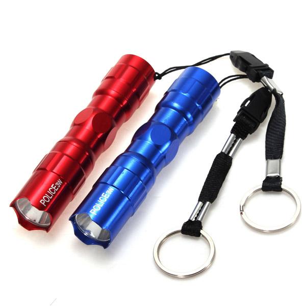 3W Mini Police superhellen LED Taschenlampe Schlüsselanhänger Taschenlampe