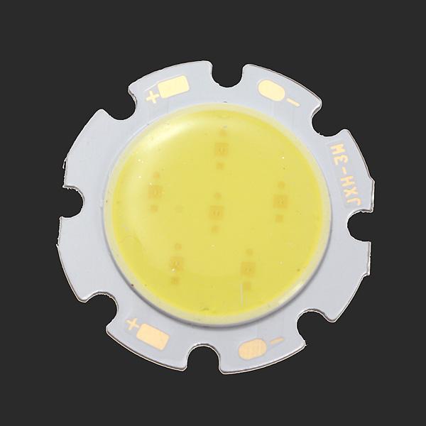 3W Vita Runda COB LED SMD Chip Lampa 6000-6500k 28mm Ficklampor