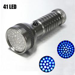41 LED 2 Mode UV Ultra Violet LED Ficklampa AAA