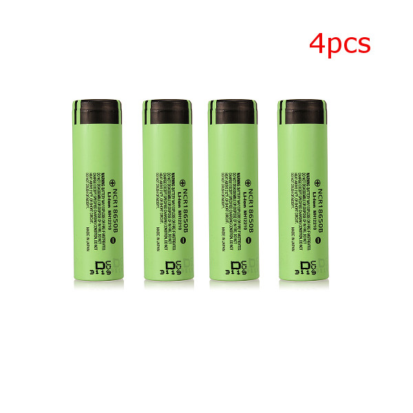 4pcs NCR 3400mAH 18650 3.7V Lithium Rechargeable Battery For Panasonic Flashlight