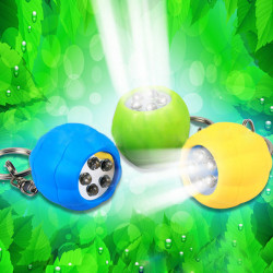 5 LED Netter Kürbis Hell Schlüsselanhänger Spielzeug Geschenk