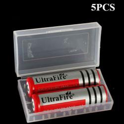 5PCS 18650 CR123A 16340 Battery Case Holder Box Storage White