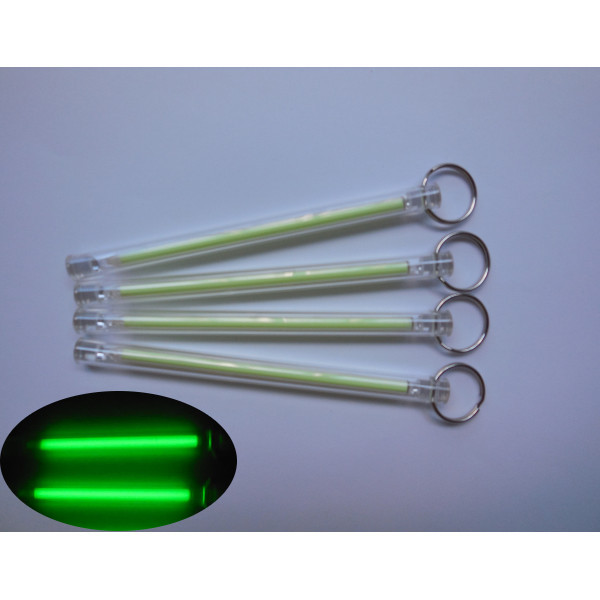 5x100mm Trit Flaskor Tritium Självlysande Nyckelring 15-År Ficklampor