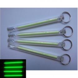 5x80mm Tritium Rohr Selbstleuchtende 15 Jahre Schlüsselanhänger Grün