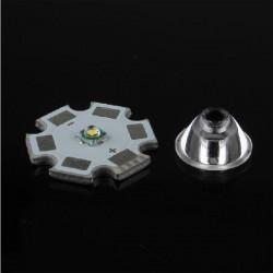 60 Grad CREE XRE / XRC LED Korn Oberflächen Objektiv 11.8mm