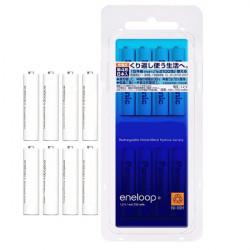 8st Eneloop BK-4MCC / 8C AAA 800mAh Uppladdningsbart Batteri